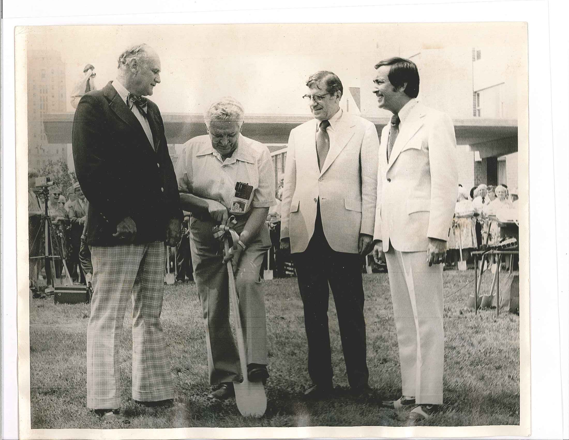 Groundbreaking for the Horizon Center took place in 1974.